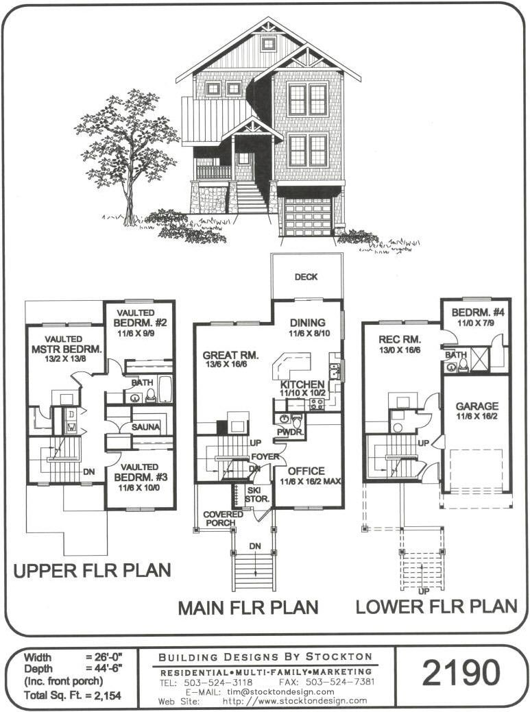Building Designs By Stockton Plan 2190