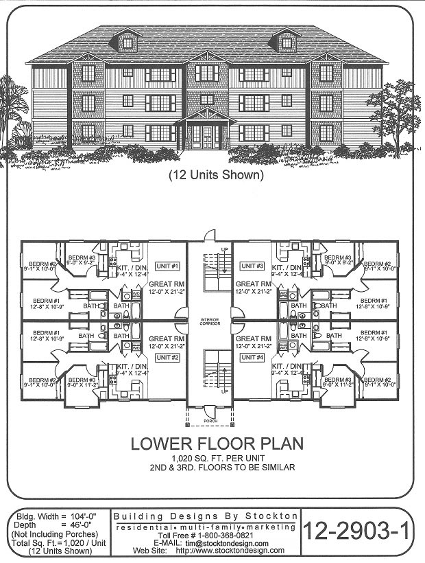 12 unit apartment building plans submited images