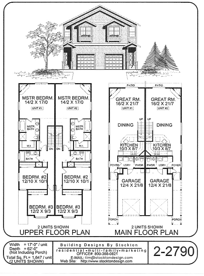 Building Designs By Stockton Plan 2 2790