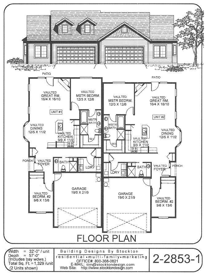 Building Designs By Stockton Plan 2 2853 1
